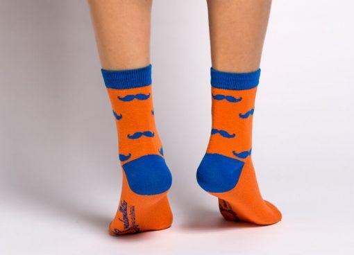 MUSTATI femei 1/2 portocaliu-albastru